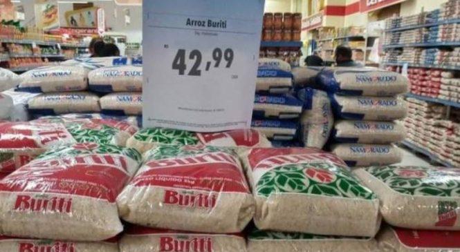 Preço do arroz já atinge R$ 40 e deve continuar em alta