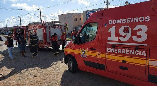 Botijão de gás explode e deixa mulher ferida em apartamento no Benedito Bentes