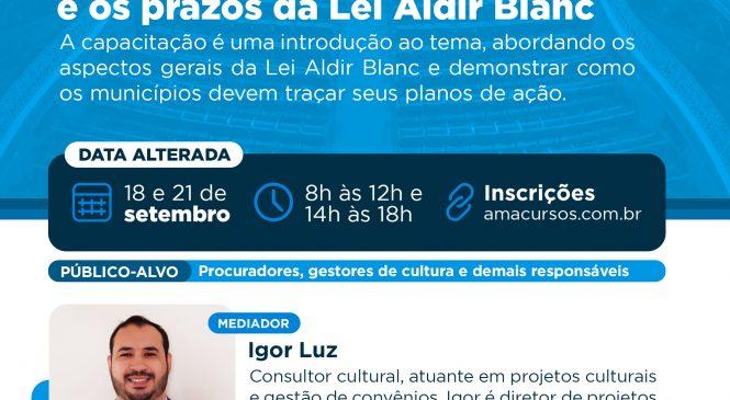 AMA: Conferência online sobre Lei Aldir Blanc será nesta sexta