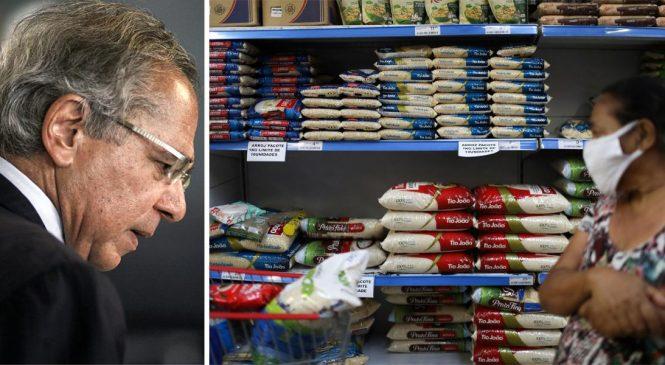 """Guedes: """"Preço do arroz subiu porque condição de vida dos pobres melhorou"""""""
