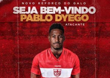 CRB oficializa a chegada de ex-atacante do Fluminense