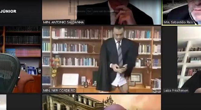 Vídeo: Ministro do STJ aparece sem as calças durante julgamento