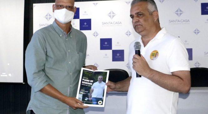 Alfredo Gaspar de Mendonça faz visita de cortesia à Santa Casa de Maceió