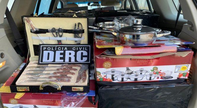 Golpistas são presos vendendo produtos falsificados em Maceió