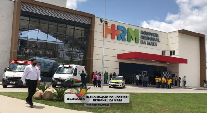 Investimento de R$ 32,3 milhões, Hospital Regional da Mata é inaugurado