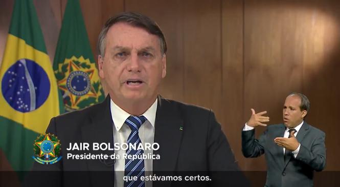 Em mais uma mentira, Bolsonaro diz no G-20 que estava certo sobre a pandemia