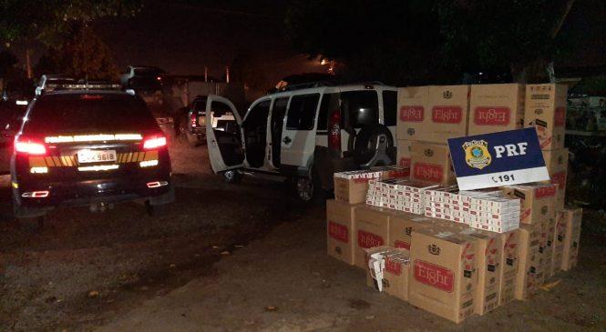 PRF prende um homem e apreende 20.000 carteiras de cigarros contrabandeados na BR 316