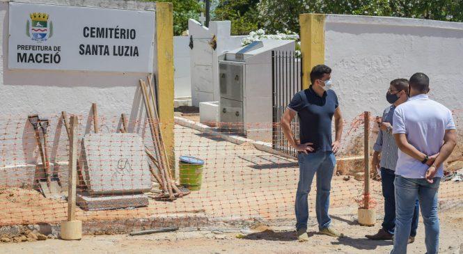 Rui Palmeira retoma agenda após Covid e vistoria obras em Riacho Doce