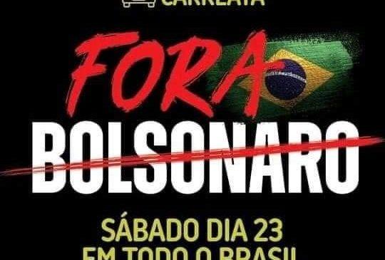 Manifestantes saem às ruas em carreatas para exigir impeachment de Bolsonaro