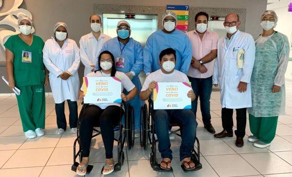 Hospital da Mulher concede alta a dois pacientes de Manaus que se recuperaram da Covid-19
