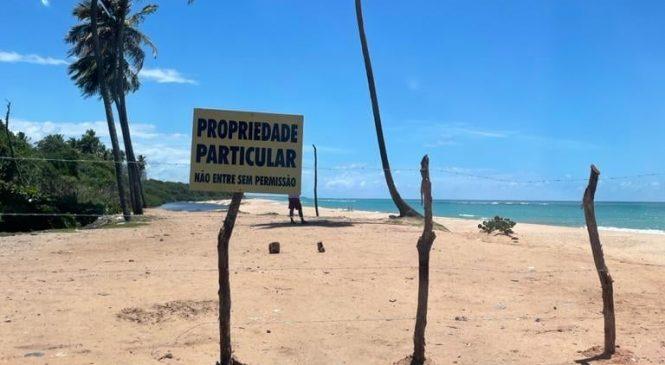 Quando até a praia é privatizada com a conivência de autoridades é por que a boiada já passou
