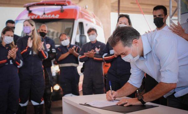 Assinada ordem de serviço para construção de Base Descentraliza do Samu e Corpo de Bombeiros