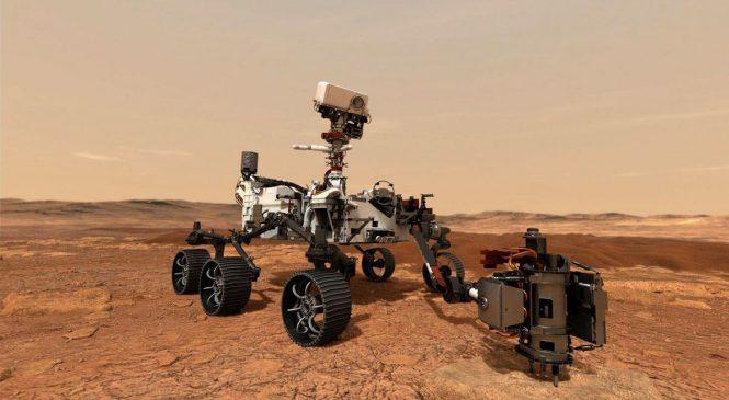 Veículo Perseverance pousa hoje em Marte na busca por sinais de vida