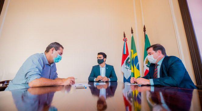 JHC e presidente da Associação Comercial tratam sobre combate à Covid-19 e apoio ao setor produtivo