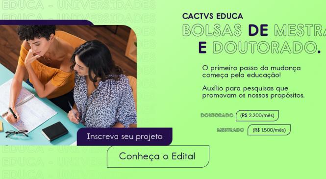 Cactvs: Banco digital oferece bolsas de estudo para pós-graduação