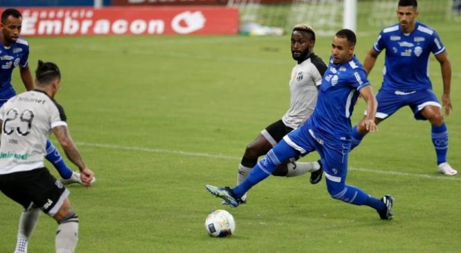 CSA perde jogo para o Ceará e chance de liderar grupo na Copa do Nordeste