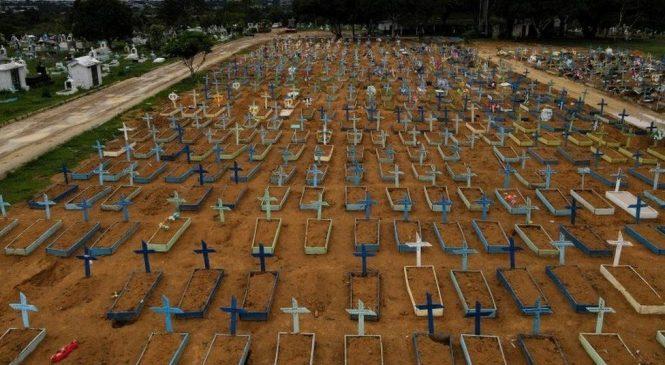 Brasil assusta o mundo com mais de 350 mil mortos por Covid-19