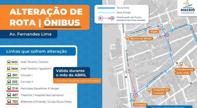 Bairro Gruta de Lourdes: obras alteram itinerário de ônibus