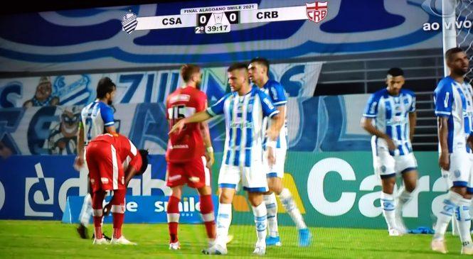 CSA e CRB fizeram jogo de iguais em tudo na primeira partida da decisão, daí o 0 a 0
