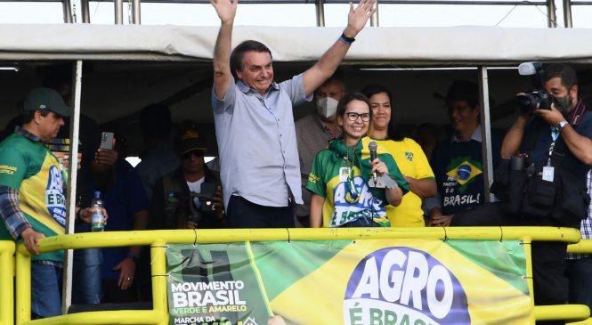Bolsonaro em campanha diz no palanque: 'Sem o voto impresso o Lula ganha a eleição'
