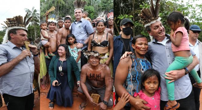 Enquanto Bolsonaro visitava aldeias, MP que permite Funai fazer barreiras anticovid é aprovada no Congresso