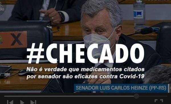 Cuidado: Senador falou besteira ao defender medicamentos ineficazes contra Covid-19 na CPI