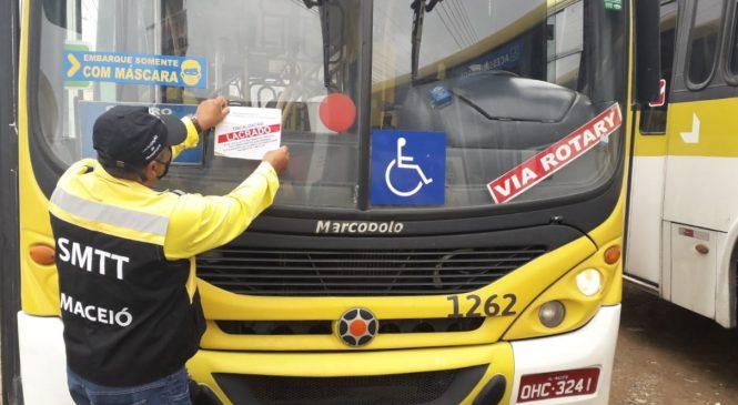 Fiscalização da SMTT registra infrações e 23 ônibus são lacrados em Maceió