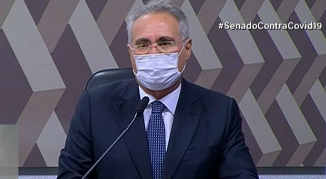Renan cita holocausto no inquérito da Capitã Cloroquina e irrita governistas