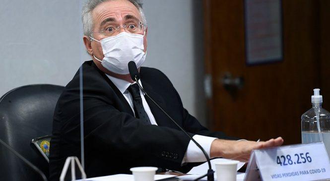 Após ofensas de Bolsonaro em AL, Renan Calheiros responde: '428 mil vítimas'