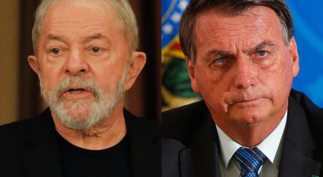 Instituto Paraná diz que Bolsonaro ganharia a eleição de Lula para Presidente