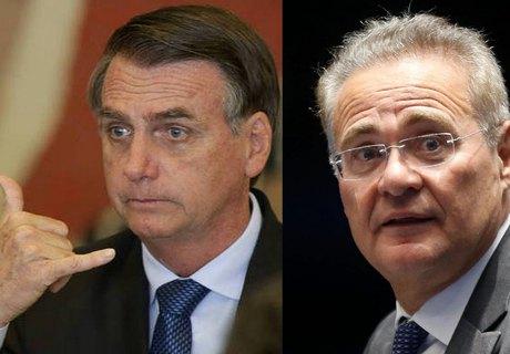 Renan diz a Bolsonaro que não gaste tempo com a inércia e que investigará todos se houver necessidade