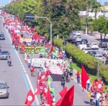 Ato Fora Bolsonaro em Maceió responsabiliza governo pelas mortes de quase 500 mil pessoas