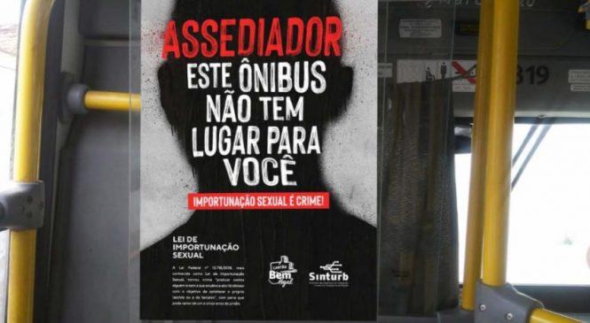 Empresas de ônibus de Maceió lançam campanha contra importunação sexual dentro dos coletivos