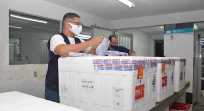 Covid-19: alagoas recebe hoje mais 141 mil doses de vacinas