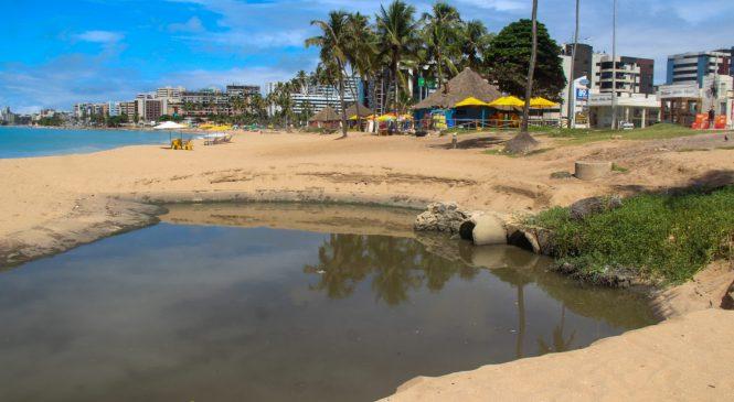 IMA notifica prefeitura por lançar esgoto na galeria da praia da Jatiúca