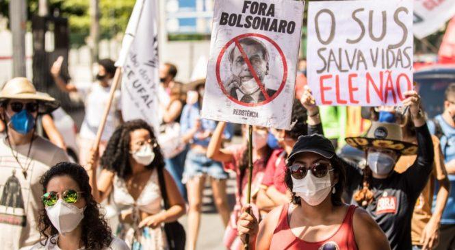 Manifestantes contra o governo Bolsonaro voltam às ruas neste sábado