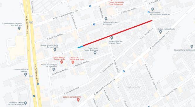 Avenida Desembargador Barreto Cardoso será interditada a partir desta quinta