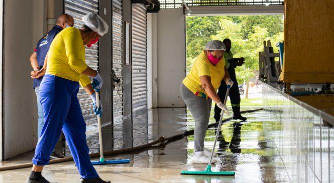 Mutirão retira 24 toneladas de lixo do Centro Pesqueiro e melhora acessibilidade