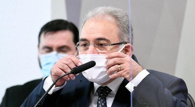 CPI: Queiroga defende Copa América, mas é contra cloroquina no uso da Covid-19