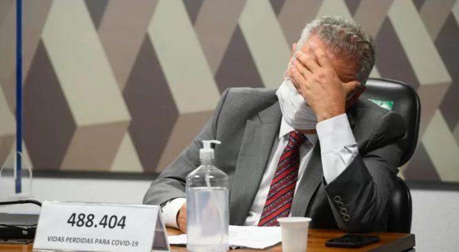 Relator da CPI, Renan se recusa a questionar médicos negacionistas e bate boca com Heinze