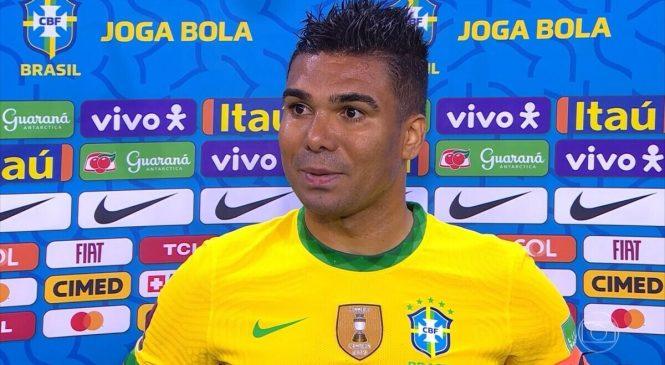 Capitão da seleção, Casemiro, diz que time não participará da Copa América