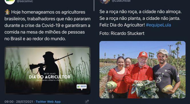 """Os """"extremos"""" da política brasileira em duas fotos para o Dia do Agricultor"""