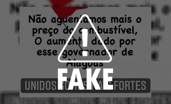 Cuidado com mentiras: Imposto sobre combustíveis não é alterado desde 2015 em Alagoas