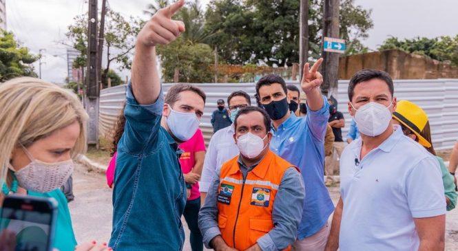 JHC, no Twitter, registra visitas a bairros afetados pela Braskem ao lado do governador Eduardo Leite
