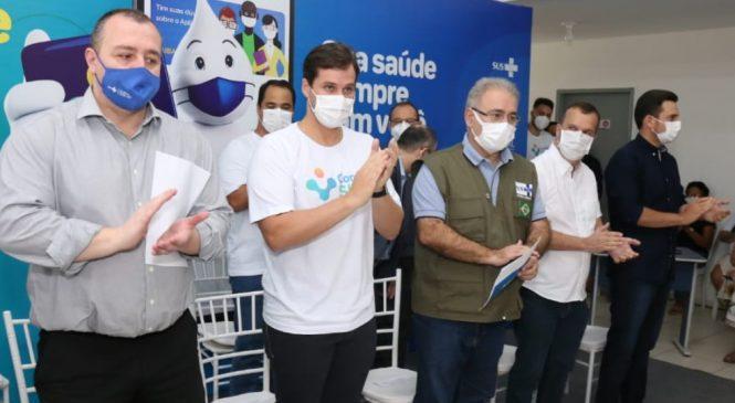 Prefeito Cacau recebe Ministro da Saúde para lançamento do programa federal Conecte-SUS