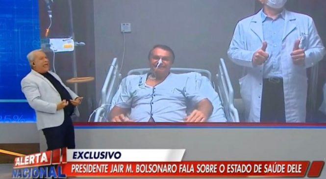 Ao vivo, Bolsonaro diz a Sikêra Jr estar melhor e afasta necessidade de cirurgia