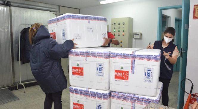 Alagoas recebe mais 59.500 doses da AstraZeneca
