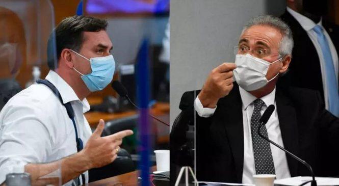 Flávio Bolsonaro manda recado a Renan: 'o caso agora é pessoal', ameaçou