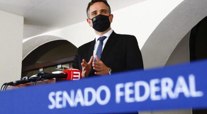 Presiente do Congresso, Rodrigo Pacheco, reage às ameaças de Bolsonaro
