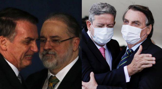 Para Aras e Lira, Bolsonaro não comete crimes ao atacar democracia e autoridades